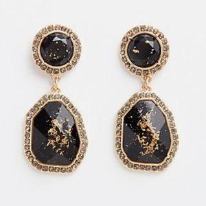 🖤 Torrid black & gold speckled dangle earrings